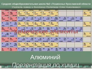 Химические элементы Средняя общеобразовательная школа №2 г.Пошехонье Ярославс