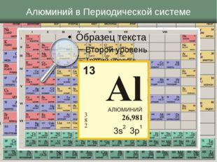 Алюминий в Периодической системе