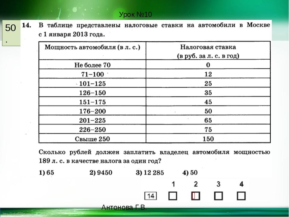 50. Урок №10 ⤫ Антонова Г.В. http://linda6035.ucoz.ru/