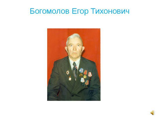 Богомолов Егор Тихонович