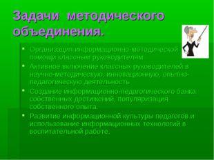 Задачи методического объединения. Организация информационно-методической помо