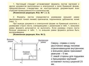 Сверху, справа и снизу расстояние между линиями ограничивающими внутреннюю и