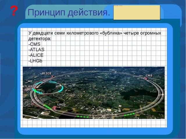 CMS (№1)-эксперимент для поиска новых направлений в физике. Он, возможно, п...