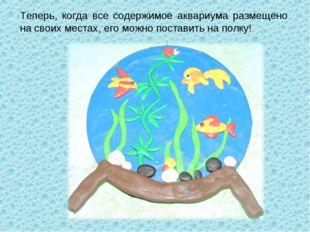 Теперь, когда все содержимое аквариума размещено на своих местах, его можно п
