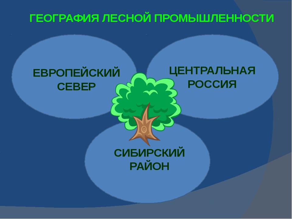 ГЕОГРАФИЯ ЛЕСНОЙ ПРОМЫШЛЕННОСТИ ЕВРОПЕЙСКИЙ СЕВЕР ЦЕНТРАЛЬНАЯ РОССИЯ СИБИРСКИ...