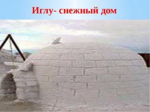 Иглу- снежный дом