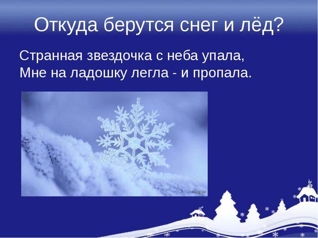 Снег и тему на презентацию берутся класс лед откуда 1