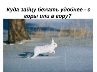 Куда зайцу бежать удобнее - с горы или в гору?