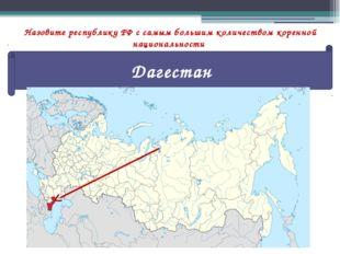 Назовите республику РФ с самым большим количеством коренной национальности Да