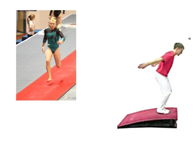Техника выполнения: 1 - разбег, толчок правой (левой) ногой и напрыгивание дв...