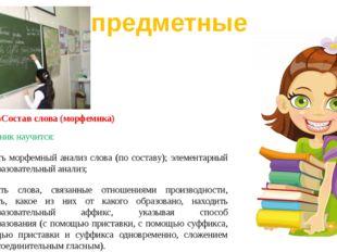 Раздел «Состав слова (морфемика) Выпускник научится: проводить морфемный анал