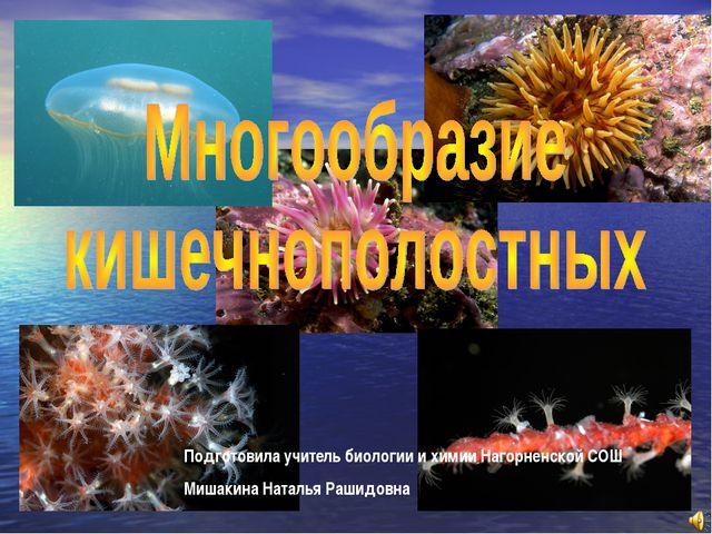 Подготовила учитель биологии и химии Нагорненской СОШ Мишакина Наталья Рашидо...