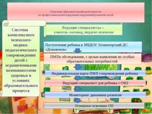 Описание образовательной деятельности по профессиональной коррекции нарушени
