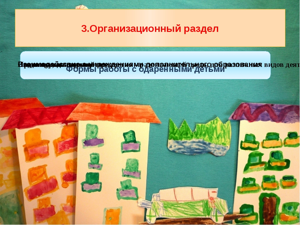 3.Организационный раздел Формы работы с одаренными детьми