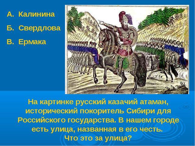 На картинке русский казачий атаман, исторический покоритель Сибири для Россий...