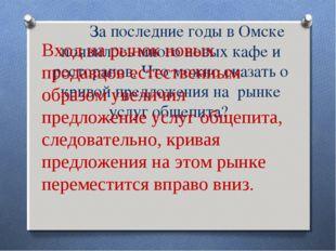 За последние годы в Омске появилось много новых кафе и ресторанов. Что можно