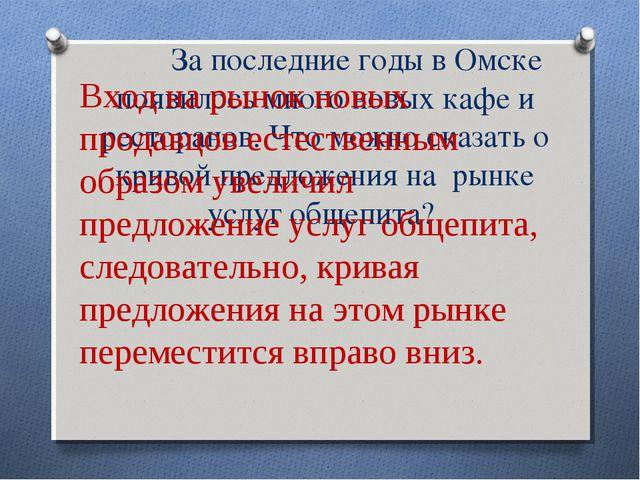 За последние годы в Омске появилось много новых кафе и ресторанов. Что можно...