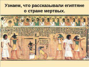 Узнаем, что рассказывали египтяне о стране мертвых.