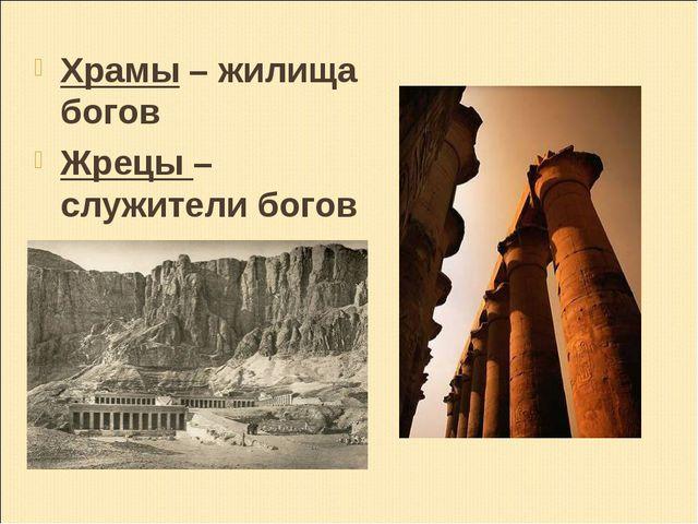 Храмы – жилища богов Жрецы – служители богов