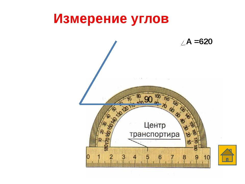 Измерение углов А А =1200