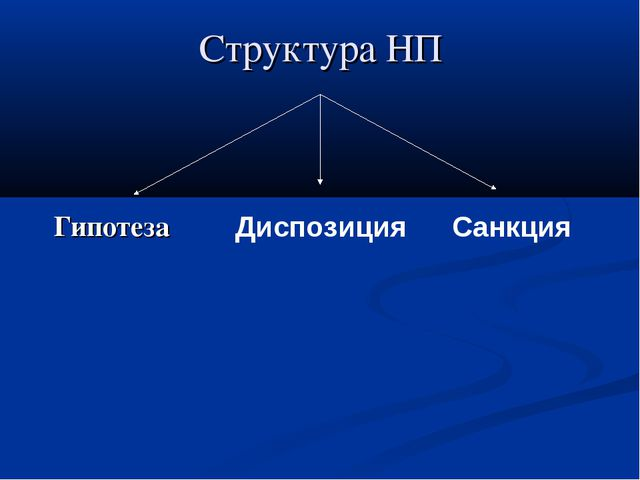 Структура НП Гипотеза Диспозиция Санкция