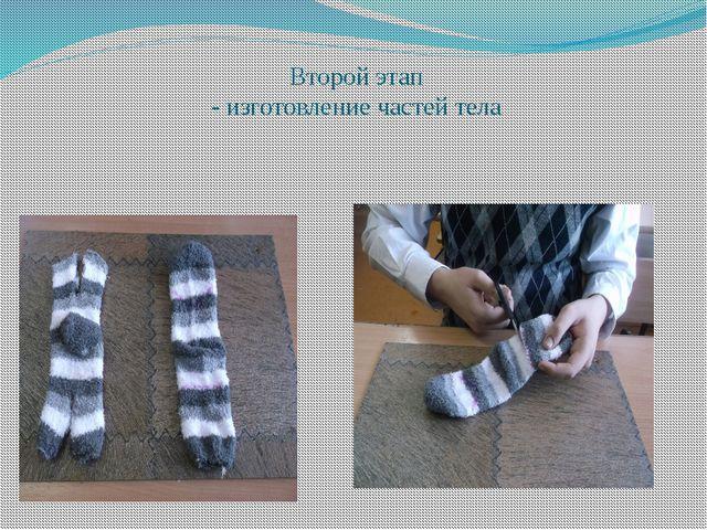 Второй этап - изготовление частей тела