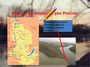 Енисе́й — река в Сибири, одна из величайших рек России. Слияние Большого Енис