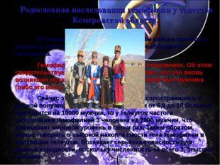Родословная наследования гемофилии у телеутов Кемеровской области. В Кемеров