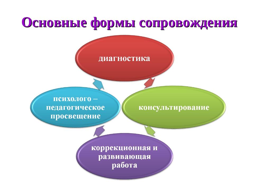 Основные формы сопровождения