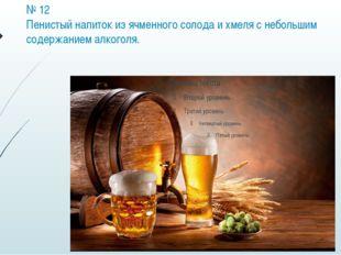 № 12 Пенистый напиток из ячменного солода и хмеля с небольшим содержанием алк