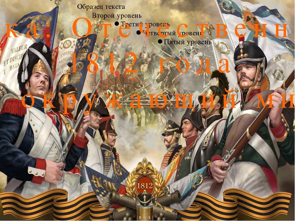 Тема урока: Отечественная война 1812 года Предмет: окружающий мир Класс: 4