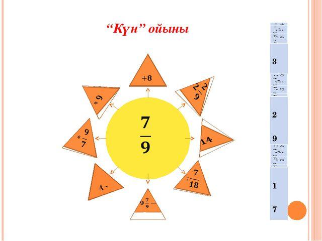 """""""Күн"""" ойыны 4 -"""
