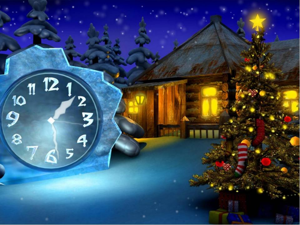 Анимация времени до нового года