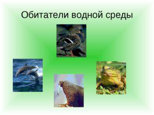 Обитатели водной среды