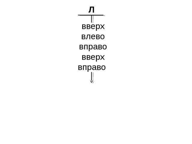 вверх влево вправо вверх вправо Л