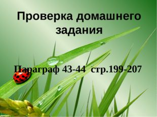 Проверка домашнего задания Параграф 43-44 стр.199-207