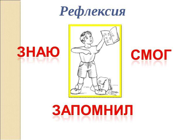 Рефлексия Писаревская Татьяна Петровна Баган БСОШ№1