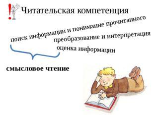 Читательская компетенция поиск информации и понимание прочитанного преобразов