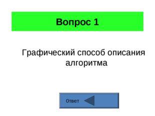Вопрос 1 Графический способ описания алгоритма 0твет