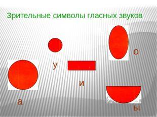 Зрительные символы гласных звуков а у и о ы