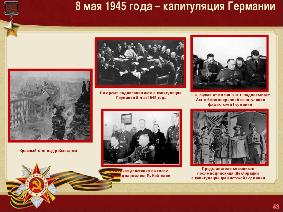 8 мая 1945 года – капитуляция Германии Матюшкина А.В. http://nsportal.ru/user...