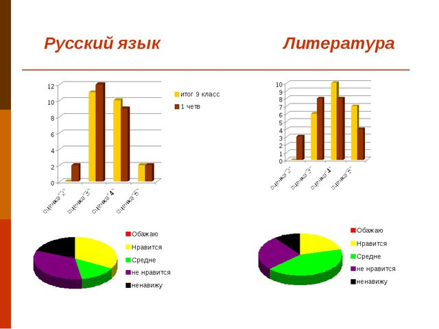 Русский язык Литература