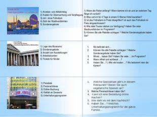 1) Anreise- und Abfahrtstag 2) Kosten für Übernachtung und Verpflegung 3)