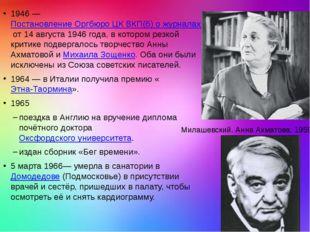 1946—Постановление Оргбюро ЦК ВКП(б) о журналах «Звезда» и «Ленинград»от 1