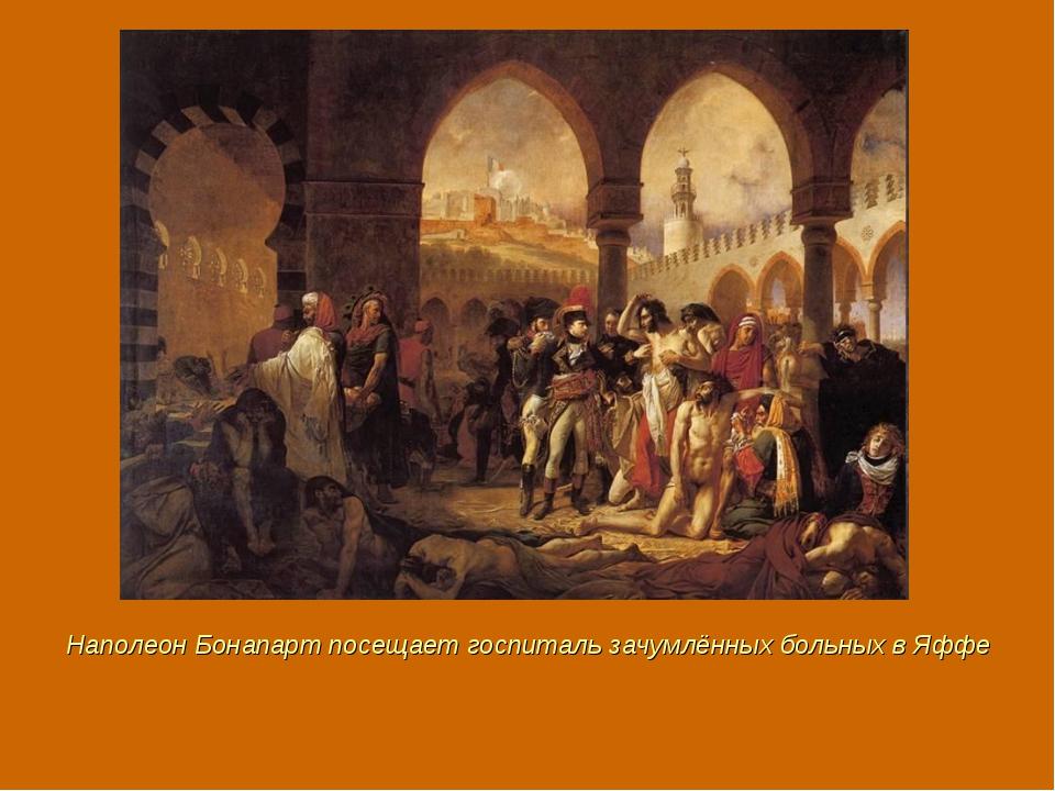 Наполеон Бонапарт посещает госпиталь зачумлённых больных в Яффе