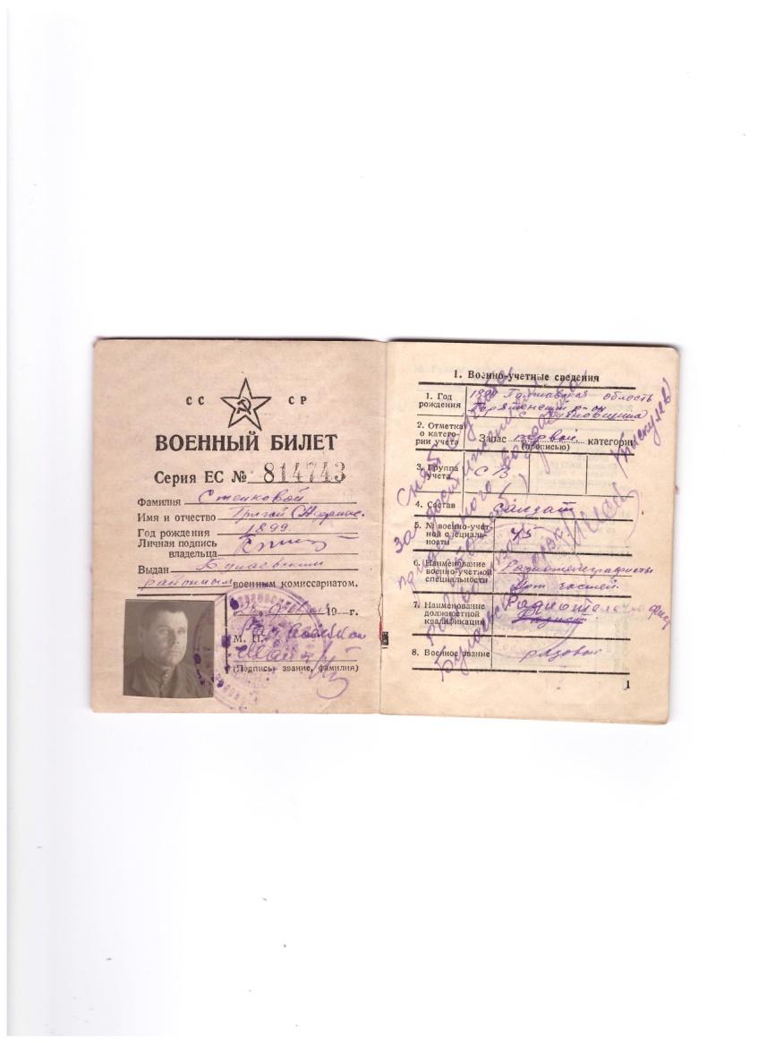 F:\пишу работуууу\о чём рассказала книжка\красноармейская книжка\военный билет\воен 2 001.jpg