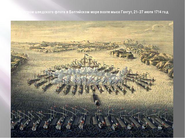 Разгром шведского флота в Балтийском море возле мыса Гангут, 21- 27 июля 1714...