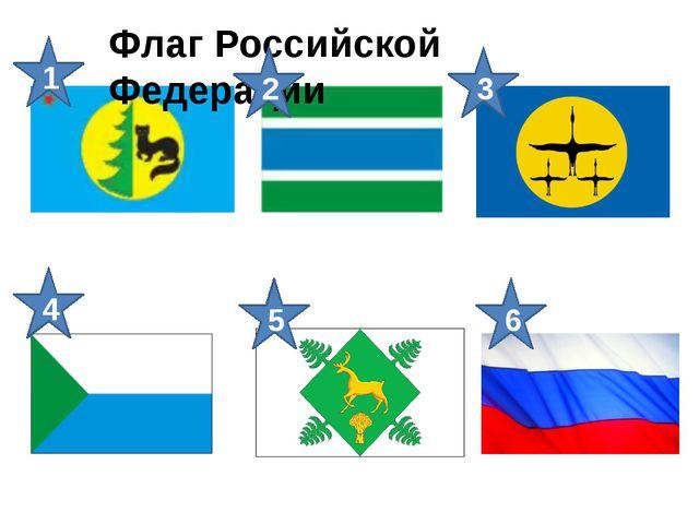 Флаг Российской Федерации 1 2 4 3 5 6