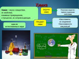 Химия * * Химия – наука о веществах, их свойствах, взаимных превращениях, и п