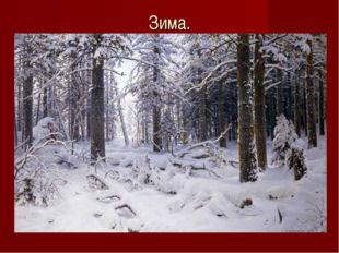 Зима.